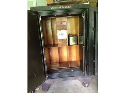 SAFE Antique Original patented in 1906 by J Baum Safe  Lock Co 42x67 previously used in cour