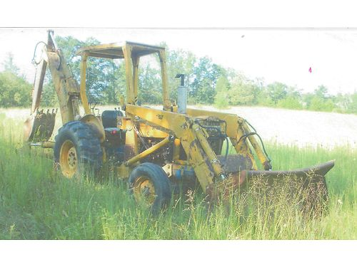 BACKHOE Ford 450 40hp  Diesel everything works grader blade bucket good hydraulics older