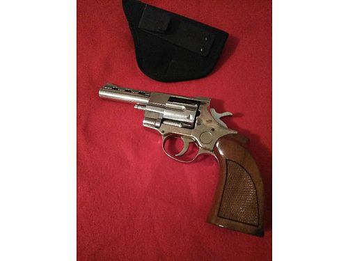 REVOLVER 38 Chromed 4 barrell wood handle good shape includes holster 300 obo 865-200-629