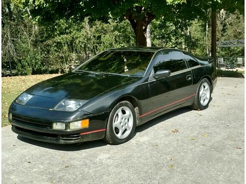 1990 NISSAN 300 ZX TWIN TURBO Black on Black wlocking T-Tops fully lodaded recent tune-up fluid
