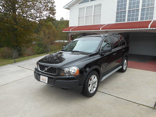 2004 VOLVO XC90 25 T AWD black wgray leather auto all power air CD tow pkg step bars 173k