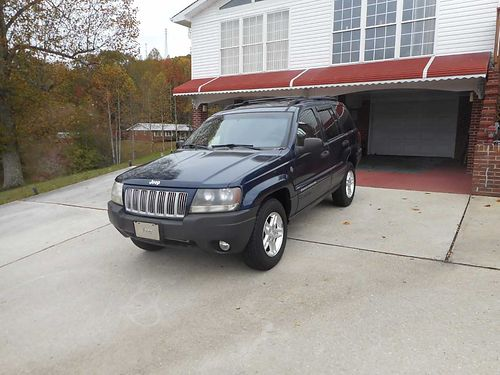 2004 JEEP GRAND CHEROKEE LAREDO 4wd Navy Blue wcloth interior fully loaded air all power Cass