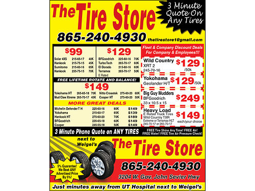 The TIRE STORE Check Out Our Deals We offer a 5 Guarantee We Will Beat ANY Advertised Price by 5