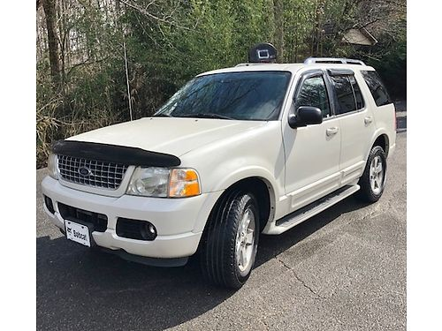 2003 FORD EXPLORER LIMITED 4x4 Pearl White Smoky Gray Leather 46L V8 loaded woptions CD thi