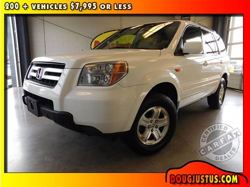 2008 HONDA PILOT VP AWD auto Taffeta White wtan interior 35L V6 auto all power cruise 137k S