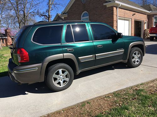 2005 ISUZU ASCENDER Green 4wd V6 auto all power air sunroof CD Changer well maintained wrec