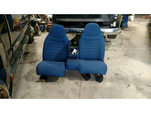 SEATS 2 Bucket Seats great shape fresh Blue wblack upholstery 200 for the pair Clinton 865-