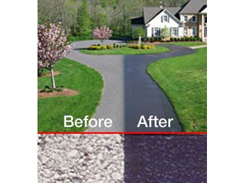A DRIVEWAY SEALER Using Commercial Grade Spray On Sealer Residential Commercial  Discounted Rate