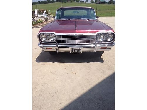 1964 CHEVROLET IMPALA 2dr Hardtop Small Block Chevrolet 250 horsepower power glide transmission
