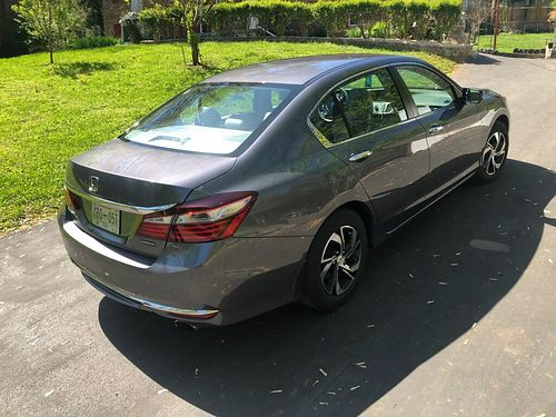 2015 HONDA ACCORD EX gray 4cyl auto air CD all power less than 14k nearly new condition stil