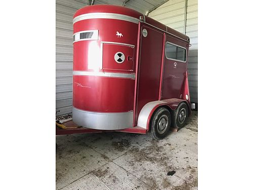 HORSE TRAILER CW 2 Horse Bumper Pull 7 Tall Garage kept its entire life recent new tires Excel
