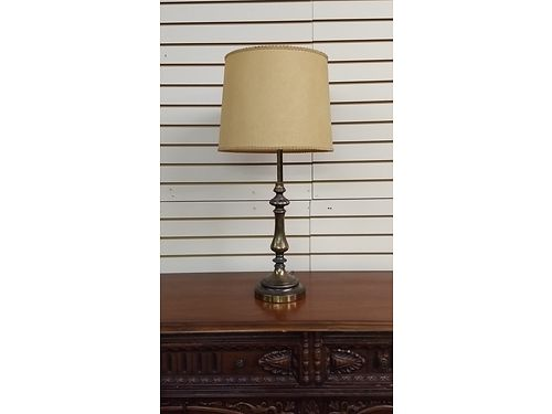 LAMP Vintage Antique Brass Lamp 1 Owner original with original shade 25 865-242-1512 see photo