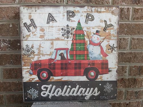 HOLIDAY WOOD TRUCK PLAQUE, $18. 865-242-1512 SEE ...