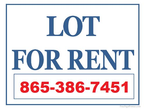 MOBILE HOME LOT for Rent Small Lot for Singlewide up to 60L Utility  Water Hook-Up Available