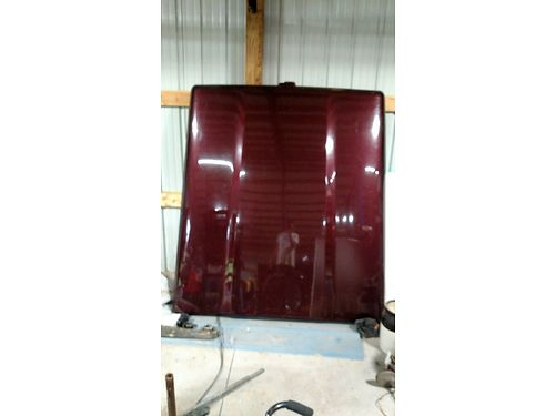 BED COVER Fiberglass Tonneau cover Maroon locking off 04 Dodge Ram 1500 but will fit others g