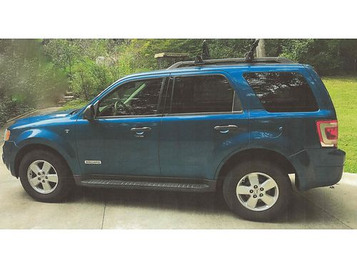 2008 FORD ESCAPE XLT 4WD blue AWD 6cyl auto air all power moonroof CD Changer Roof Rack ski