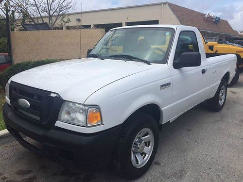 2007 FORD RANGER XL 2 Door Reg Cab White WGray Interior Auto Runs  Drives Excellent 100k Mil