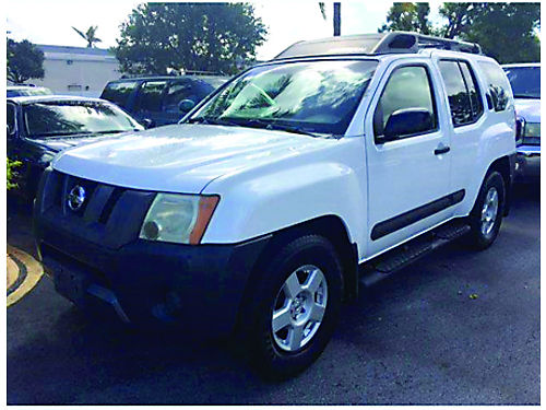 2006 NISSAN X-TERRA 5 Speed White With 2 Tone Tan Interior 100K Miles Excellent Condition 495