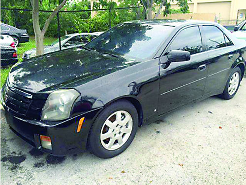 2007 CADILLAC CTS V6 4dr Black W2 Tone Interior 100 Hwy Miles Automatic Cold AC 4450 Call