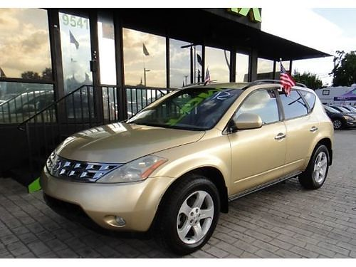 2003 NISSAN MURANO SL AC All Power Alloys We Finance Everyone 888 855-8514  5000