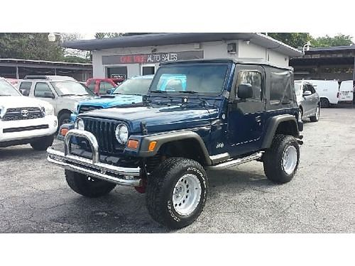 2005 JEEP WRANGLER 6 Speeds 4x4 Low Miles Buy Here Pay Here No Credit Approved 855-324-7167
