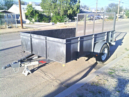UTILITY TRAILER 77x10x2 3500lb capacity steel floor heavy duty leaf springs very strong trailer