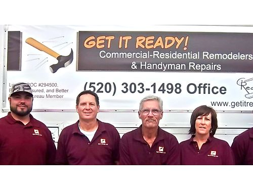GET IT READY TUCSON HANDYMAN REMODELING CONTRACTOR Offering 10 OFF Standard Handyman Hourly Rate Of