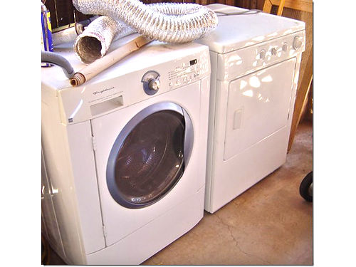 FRIGIDAIRE WASHER front load heavy duty capacity and dryer good condition Will sell seperately