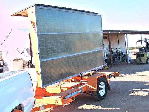 2001 VER-MAC PCMS1210RS solar power message board on trailer needs batteries  cables I am told th