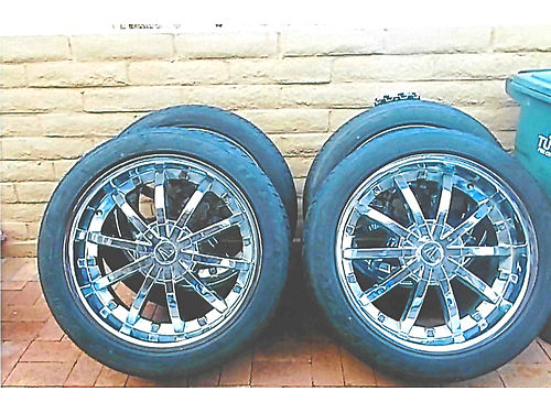 4 TIRES  wheels 22 Universal 6-lug  550 Call George