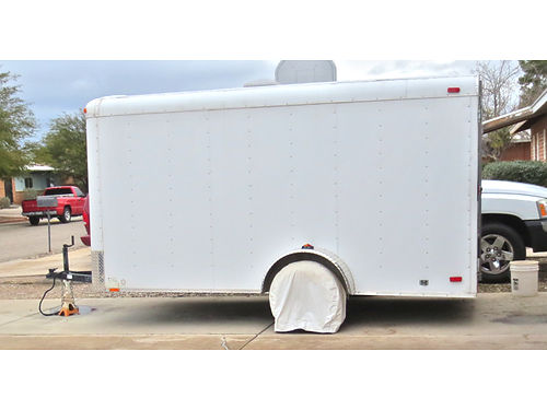2008 CONTINENTAL cargo trailer 16x6 double rear doors side door single axle spare tire excel