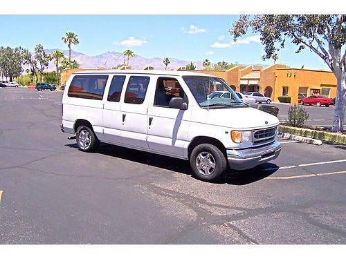 1997 FORD WINDOW VAN 7 Passenger Ice Cold AC Leather Hitch 164Kmi Pampered Just Passed Emiss