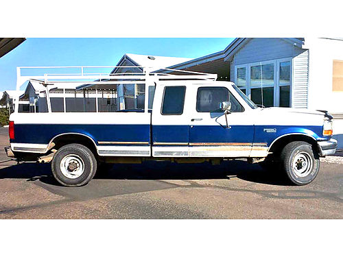1996 FORD F250 Pickup good condition runs great 4x8 bed rack AC new tires  fuel pumps alway