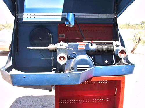 AMMCO 4100 brake lathe with safety enclosure nice machine bench adapters 7900 twin cutter does f