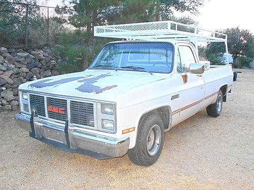 1987 GMC 1500 2WD rack toolbar hitch nice body V8 AT needs transmission work may part 1200