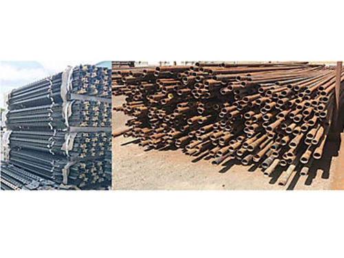 USED STEEL PIPE Posts rods  cable Various lengths diameters and wall thickness Erosion Contro