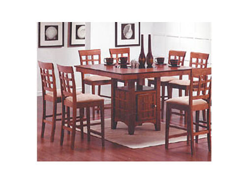 COUNTER HEIGHT TABLE w6 barstools  Lazy Susan 748 222 West Main St Santa Maria 805-928-6101