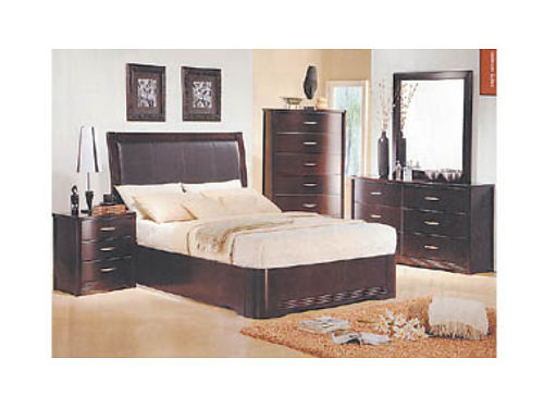 QUEEN bed 2 night stands dresser  mirror wood veneer only 988 222 West Main St Santa Maria 