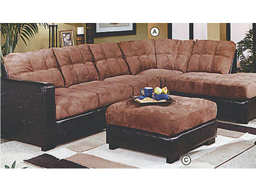 2-PIECE SECTIONAL includes free ottoman 577 222 West Main St Santa Maria 805-928-6101