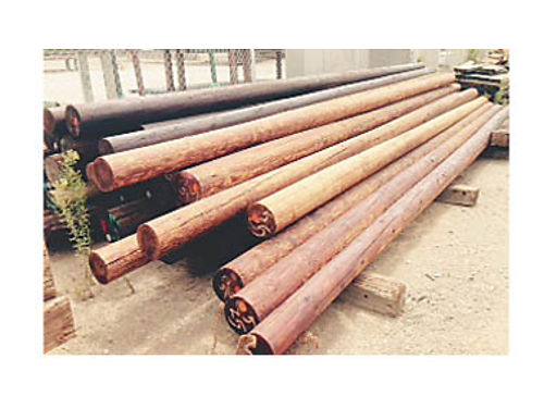 POWER POLES Largest selection in SLO County New  used 25 to 50 Douglas fir Penta treated Pr