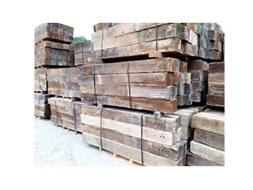 RAILROAD TIES 1 and 2 - 6x8 and 7x9x8 and 9 1750 - 26 Treated Timbers