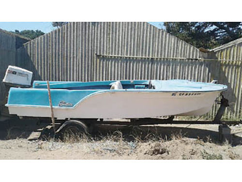 1958 FLEETFORM 16 Retro Style boat rebuilt 65HP Johnson motor solid fiberglass hull in good sha