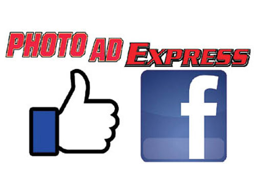 LIKE US ON FACEBOOK PHOTOADSLO View the online edition of the Photo Ad Express right from Facebook