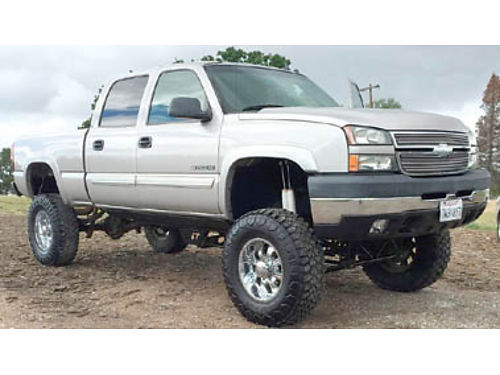 2006 CHEVY SILVERADO 2500 HD CREW CAB - 60L at 8 lift NavDvdMp3 pseat pwd pdl tw cc rn