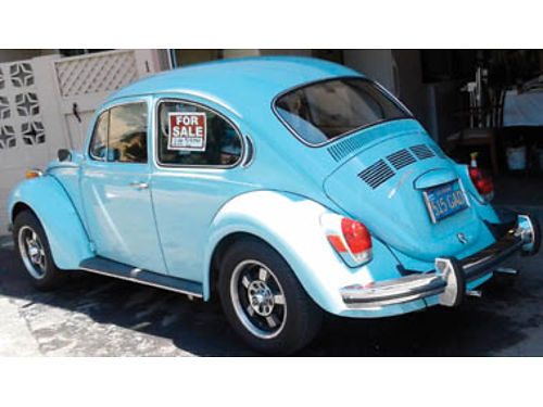 1972 VW SUPER BEETLE Brand new mechanicly front-rear new tires mag wheels Blauplunct stereo onl