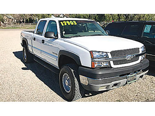 2003 CHEVY SILVERADO 2500 HD CREW CAB 4X4 - 81L Allison at dual leather pseats ac pwd pdl
