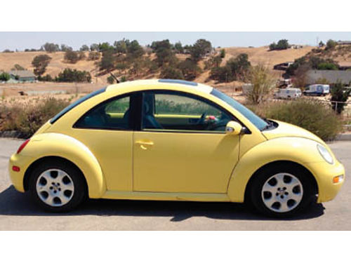 2003 VW BEETLE 5 speed manual trans 146K miles new tires new elec system PDL PW great AC sun