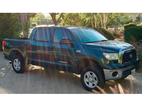2008 TOYOTA TUNDRA CREW MAX 4X4 - 57L 6spd at ac pwd pdl tw cruise pseat psrw liner