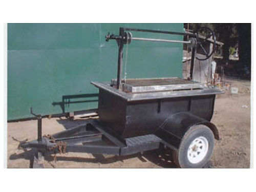BBQ TRAILER mostly stainless steel construction grill is 24x52 never used it 3200 obo or tra
