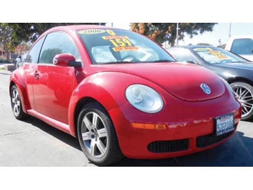 2006 VOLKSWAGEN BEETLE 5cyl PZEV 5spd lthr alloys Economical 5995 0180M405824 SBCARCO 1